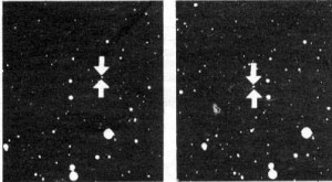 Cнимки, на которых 18 февраля 1930 Томбо обнаружил Плутон