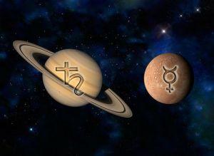 Мераурий и Сатурн