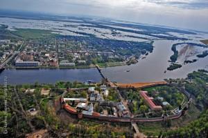 Великий Новгород, Кремль, Ярославово дворище и Торговая сторона, вид с запада