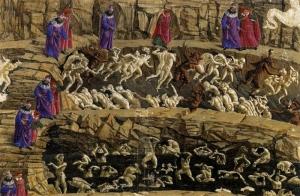 """Сандро Боттичелли. Ад. Иллюстрация к """"Божественной комедии"""" Данте. 1480-е"""