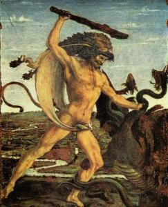 Геракл побеждает Гидру.