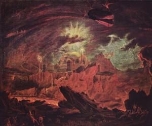Синастрические аспекты. Плутон. Fallen Angels in Hell John Martin, ca. 1841